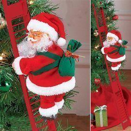 Electric Climbing Santa Claus on Ladder
