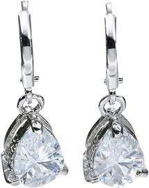 Crystal Water Drop Hoop Earrings