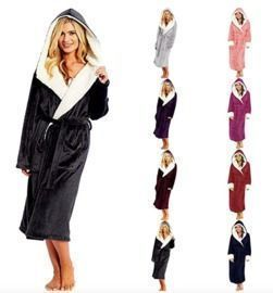 Robe Sleepwear Plush Bathrobe