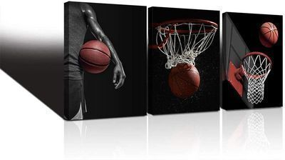 Basketball Wall Art Sports Picture Canvas