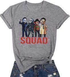 Halloween Squad Bleached Tee Shirt
