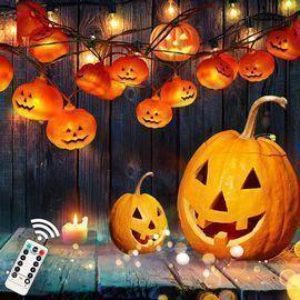 Halloween Pumpkin String Lights,