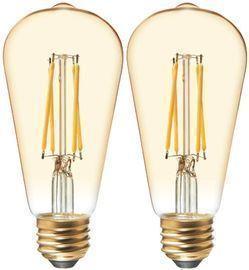 GE ST19 LED Vintage Light Bulb 2-Pack