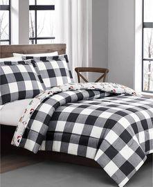 Buffalo Plaid and Dogs 2pc Comforter Set