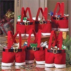 Santa Pants Style Gift Bag