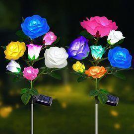Roses Solar Garden Flower Lights - 2 Pack