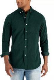 Club Room Men's Regular-Fit Stretch Corduroy Shirt