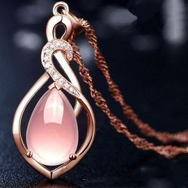 Crystal Pink Pendant Necklace