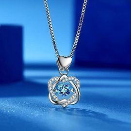 Heart-Shaped Diamond Necklace