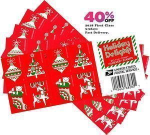 100 Holiday Postage Stamps (5 Books of 20)