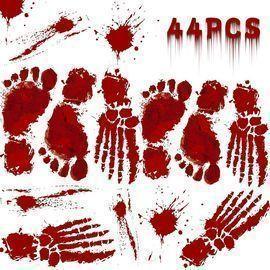 Bloody Footprint Halloween Decorations