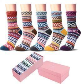 5 Pack Womens Winter Soft Wool Crew Socks with Beautiful Gift Box