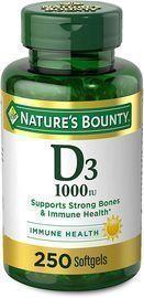 Natures Bounty Vitamin D3 250 Softgels