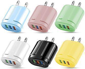 1PC 3-Port USB Color Charger