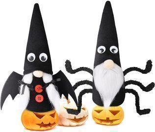 2Pcs Halloween Gnomes Plush Decor