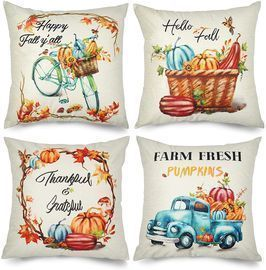 Hallioween and Fall Throw Pillow Covers