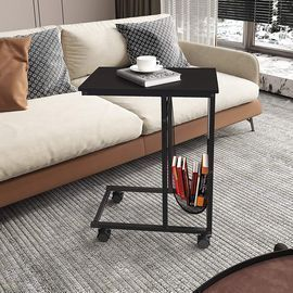 Mobile C-Shaped Side Table