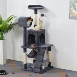 SmileMart 51 Cat Tree w/ Hammock & Scratching Post Tower