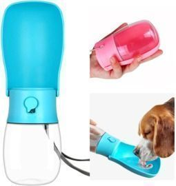 Portable Pet Travel Water Bottles Dispenser with Drinking Feeder for Dogs