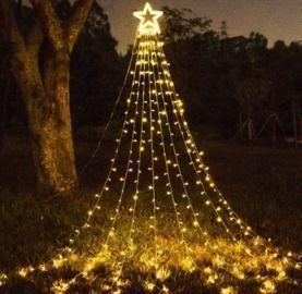 Outdoor Christmas Decoration Star String Lights (320 LED Lights)