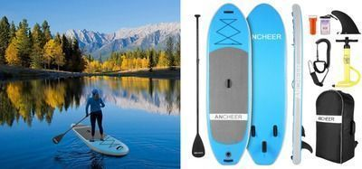 ANCHEER Inflatable Stand Up Paddle Board iSUP Package W/Premium SUP Accessories & Backpack
