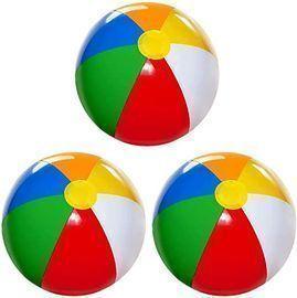 20 Inflatable Beach Balls for Kids, 3pk