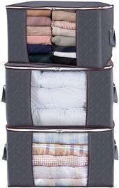 Large Capacity Clothes Storage Bag Organizer - 3 Pack