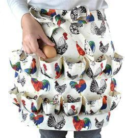 Egg Collecting Gathering Apron