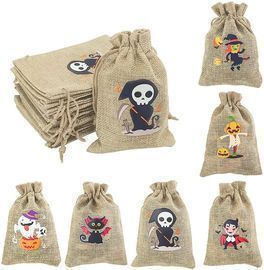 Tenacitee 42-Piece Halloween Burlap Drawstring Bag