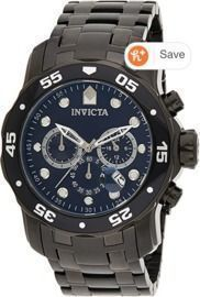 Invicta Men's 0076 Pro Diver Collection Chronograph Stainless Steel Watch
