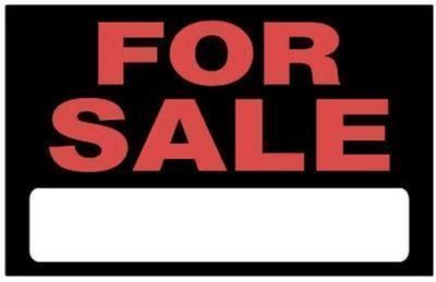 8 x 12 For Sale Sign