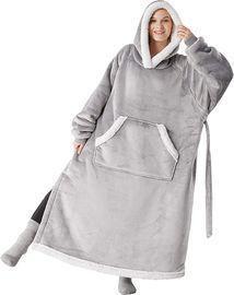 Bedsure Hooded Wearable Sherpa Fleece Blanket