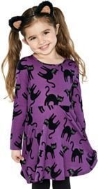 Baby And Toddler Halloween Cat Skater Dress