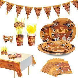 78pc Halloween Party Table Supply Kit