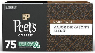 Peets Major Dickason's Blend Dark Roast Coffee 75 K-Cups