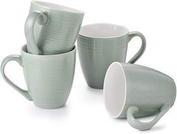 Set of 4 Large Coffee Mugs (Grey Only)