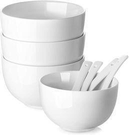 Set of 4 30oz White Soup Bowls