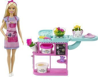 Barbie Florist Playset with 12-in Blonde Doll