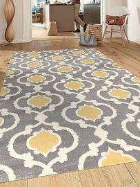 7'3 X 10'2 Moroccan Trellis Contemporary Gray/Yellow Indoor Area Rug