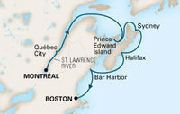Weeklong Canada & New England Cruise from Montreal