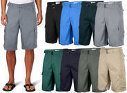 One Tough Brand Men's Cotton Twill Belted Cargo Shorts