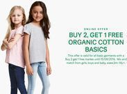 H&M - Kids Organic Cotton Basics: Buy 2, Get 1 Free