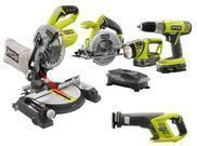 Ryobi One+ 18-Vot Lithium-Ion Coredless Combo Kit