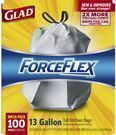 Glad ForceFlex 13-Gal Indoor Trash Bag 100-Count Mega Pack