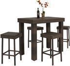 Best Choice Products 5-Pc. Wicker High Dining Furniture Set