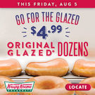 Krispy Kreme - One Dozen Original Glazed Doughnuts for $4.99 | Today Only
