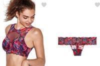 Victoria's Secret - $35 Floral Lace High-Neck Bralette & Panty Bundle