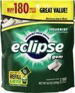 Eclipse Spearmint Chewing Gum, 180-Count (Add-On Item)