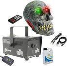 Halloween Decor Fog Machine + Battery Powered Skull Speaker