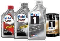 Mobil 1 Synthetic 5-Quart Motor Oil or Super 5-Quart Oil